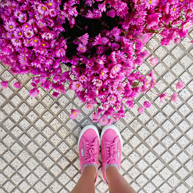 Look superga - Jessica Velasco - glamstyle - superga rosa
